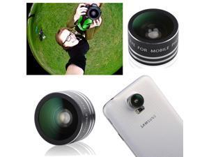New Black Detachable 180°Fish Eye Fisheye 0.28X Lens for Samsung Galaxy S2 S3 S4 S5 Note 2 II 3 III iPhone 5 4S 4G 3G 3GS ... - OEM