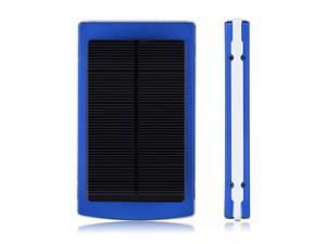 New Deep Blue 10000mAh Solar Power Panel Dual USB External Portable Mobile Battery Charger Power Bank Pack For iPhone 5S ...