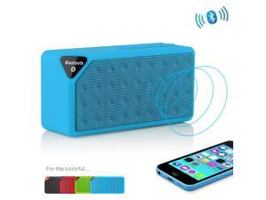 Blue Portable Wireless Bluetooth A2DP Stereo Speaker Handsfree Speakers Support TF/USB with Mic For Apple iPhone 4S 5 5S ... - OEM