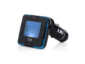 Blue LCD Car Kit MP3 Player Wireless FM Transmitter Bluetooth Handsfree Receiver with 3.5mm Aux/USB/SD Card Ports & Built-in ...