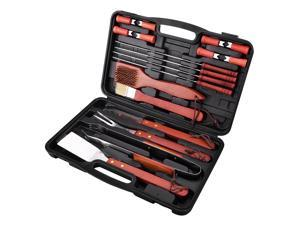 18-Piece Stainless Steel Barbecue Set With Storage Case