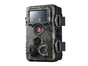 Victake Game Camera, IP66 Waterproof 12MP 1080PHD Low Glow Black Infrared Trail Cam for Night Vision Hunting Wildlife Monitor Protect Surveillance