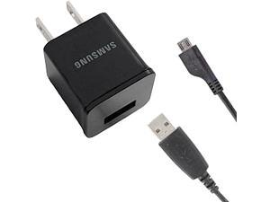 Samsung OEM 1.0A Travel USB Wall Charger with Detachable Micro USB Data/Charge Cable - Bulk Packaging
