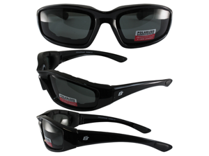 Birdz Oriole Motorcycle Glasses with Polarized Smoke Shatterproof Anti-Fog Polycarbonate Lenses and Wind Blocking Foam