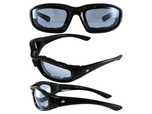 Birdz Oriole Motorcycle Glasses with Blue Shatterproof Anti-Fog Polycarbonate Lenses and Wind Blocking Foam