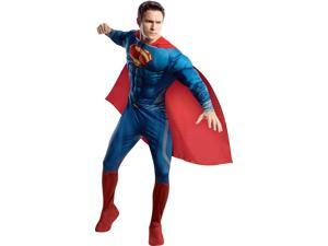 Man Of Steel Superman Deluxe Adult Costume - Large
