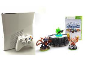 Refurbished Microsoft Xbox 360 Slim White 4GB Skylanders Special Edition Bundle