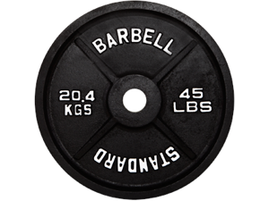 USA Sports Black Olympic 45lb Plate