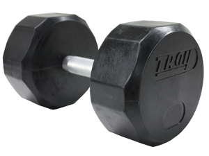 Troy 125lb Individual 12-Sided Rubber Encased Dumbbell