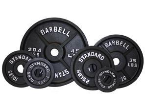 USA Sports Black Olympic 255lb Plate Set