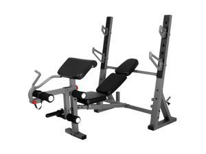 XMark Inter. Weight Bench with Leg and Preacher Curl Attach