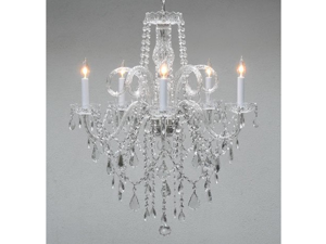 "Authentic All Crystal Chandelier Chandeliers H30"" X W24"""