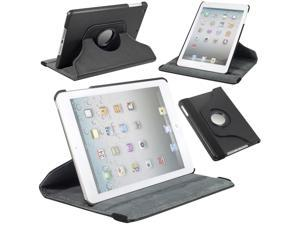 Black Leather Rotate Stand Case Folio Cover for Apple New iPad Mini shell PC333B