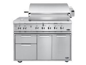 "Dcs  BGB48BQRN:  48""  Grill  with  Integrated  Sideburnerfor  Built-In  or  On  Cart  Applications"
