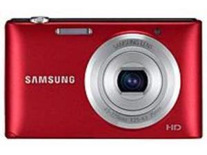 SAMSUNG ST72 EC-ST72ZZBPRUS Red 16.2 MP 5X Optical Zoom 25mm Wide Angle Digital Camera