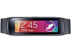 Refurbished: Samsung Gear Fit SM-R3500ZKAXAR Activity Tracker/Smartwatch - 1.84-inch Super AMOLED Display - 128 x 432 - ...