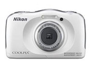 "Nikon Coolpix S33 13.2 Megapixel Compact Camera - White - 2.7"" LCD - 16:9 - 3x Optical Zoom - 4x - Digital (IS) - TTL - 4160 x 3120 Image - 1920 x 1080 Video - HDMI - HD Movie Mode"