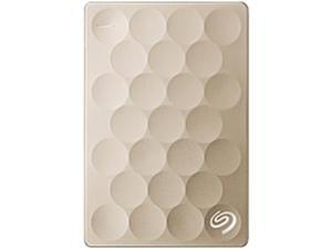 Seagate Backup Plus Ultra Slim STEH1000101 1 TB External Hard Drive - USB 3.0 - Portable - Gold