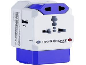 Conair Travel Smart TS239AP12 All-In-One International Adapter with 3 Outlets and USB Port