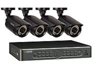 Q-See QT5682-4V3-1 4 Camera Security Surveillance System - 8 Channel DVR - 960H - Black