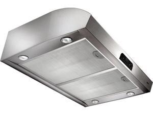 "Broan QP336SS 450 CFM 36"" Wide Steel Under Cabinet Range Hood with Heat Sentry™ and a Single C, Stainless Steel"
