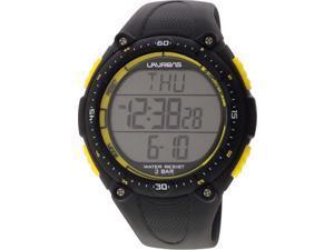 Laurens Men's M076J902Y Technical Digital Black Resin Multifunction Heart Rate Monitor Watch