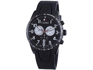 Calibre Recruit SC-4R4-13-007 Men's Black Dial Stainless Steel Chronograph Watch