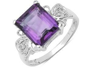 3.80 ct. t.w. Amethyst and White Topaz Ring in Sterling Silver