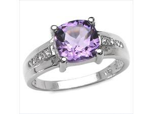 2.20 ct. t.w. Amethyst and White Topaz Ring in Sterling Silver