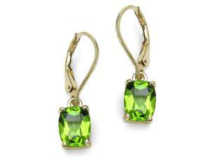 3.60 Carat Genuine Peridot Sterling Silver Earrings
