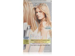 L'Oreal Paris Feria Multi-Faceted Shimmering Highlighting Kit, Star Lights/Extremely Light Blonde C100
