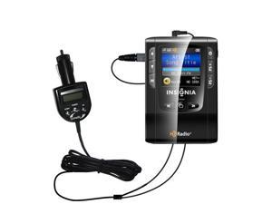FM Transmitter & Car Charger compatible with the Insignia NS-HD01 Portable HD Radio Player