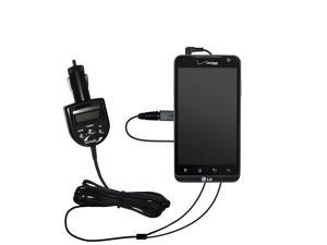 FM Transmitter & Car Charger compatible with the LG Revolution