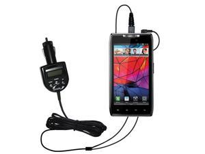 FM Transmitter & Car Charger compatible with the Motorola XT912