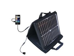 SunVolt MAX Solar Charger compatible with the Motorola Flipside and one other device&#59; charge from sun at wall outlet-like ...