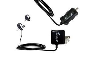 Car & Home Charger Kit compatible with the Denon AH-W150 Exercise Freak
