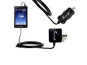 Car & Home Charger Kit compatible with the Asus MeMO Pad HD7