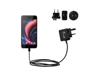 International Wall Charger compatible with the HTC Desire 10 Pro / Lifestyle