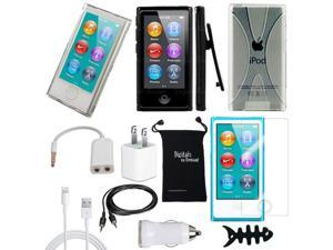 DigitalsOnDemand ® 11-Item Accessory Bundle Kit for Apple iPod Nano 7th Generation 16GB (Newest Model) - Slim Case Cover, ...