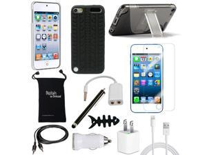 DigitalsOnDemand ® 12-Item Accessory Bundle for Apple iPod Touch 5th Gen 5G 32GB 64GB - Slim Case Cover, Case with Stand, ...