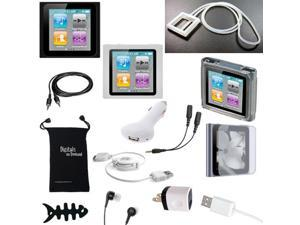DigitalsOnDemand ® 14-Item Accessory Bundle for Apple iPod Nano 6th Gen Generation 8GB 16GB (Not Compatible with New iPod ...