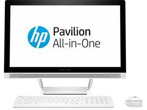 "HP Pavilion 27-a241 27"" All-in-One Desktop PC Intel Core i7-7700T 2.9 GHz 8 GB DDR4 RAM 1 TB HDD DVD-Writer Windows 10 Home 64-bit 1920 x 1080 Touchscreen"