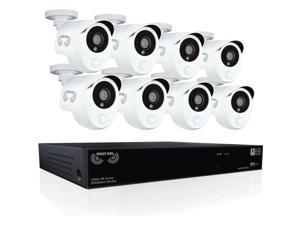 Night Owl Integrated Battery Backup 8 Channel 1080p HD Video Security DVR with 2TB HDD, and 8 x 1080p Wired Infrared Cameras