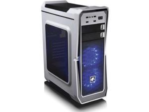 "LEPA LPC502W-BL(2U3) Computer Case - Mid-tower - White - SPCC - 4 x Bay - 2 x 4.72"" x Fan(s) Installed - ATX, Micro ATX, Mini ITX Motherboard Supported - 7 x Fan(s) Supported - 2 x External 5.25"