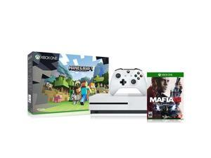 Microsoft Xbox One S 500GB Console - Minecraft Bundle with Mafia III