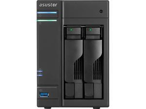 "ASUSTOR AS6302T SAN/NAS Storage System - Intel Celeron J3355 Dual-core (2 Core) 2 GHz - 2 x Total Bays - 2 GB RAM DDR3L SDRAM - Serial ATA/600 - RAID Supported 0, 1, JBOD - 2 x 2.5""/3.5"" Bay"