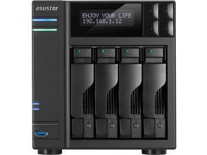"ASUSTOR AS6404T SAN/NAS Storage System - Intel Celeron J3455 Quad-core (4 Core) 1.50 GHz - 4 x Total Bays - 8 GB RAM DDR3L SDRAM - Serial ATA/600 - RAID Supported 0, 1, 5, 6, 10, JBOD - 4 x 2.5""/"