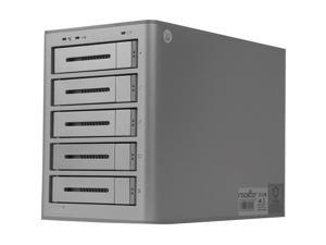 Rocstor Rocsecure DE52 15TB Encryption DAS Array - Real-time Hardware AES-256 Encryption - 5 x HDD Supported - 5 x HDD Installed - 15 TB (5x3TB) 7200 RPM Installed HDD Capacity - 5 x Total Bays - USB
