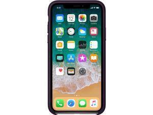 Apple iPhone X Leather Case - Dark Aubergine - iPhone X - Dark Aubergine - Silky - Leather, MicroFiber