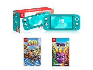 Nintendo Switch Lite Turquoise+Crash Team Racing Nitro Fueled+Spyro Reignited Trilogy